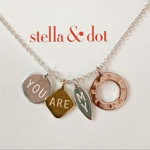 Stella and Dot You Are My Sunshine charm necklace